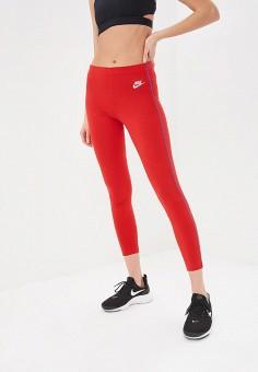 Леггинсы, Nike, цвет: красный. Артикул: NI464EWDNNI1. Одежда / Брюки / Леггинсы