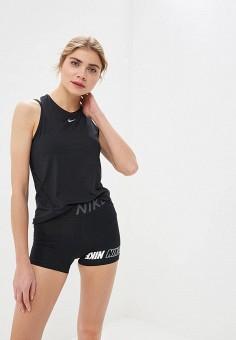 Майка спортивная, Nike, цвет: черный. Артикул: NI464EWDNOD2. Одежда / Топы и майки