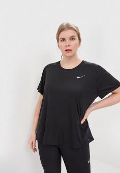 Футболка спортивная, Nike, цвет: черный. Артикул: NI464EWDNYS5. Одежда / Футболки и поло