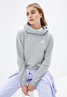 Худи, Nike, цвет: серый. Артикул: NI464EWFLCW1. Одежда / Толстовки и свитшоты