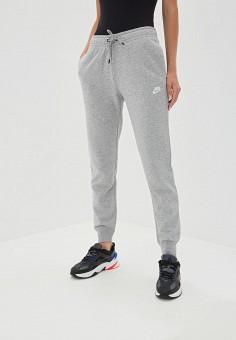 Брюки спортивные, Nike, цвет: серый. Артикул: NI464EWFLDA0. Одежда / Брюки