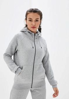 Толстовка, Nike, цвет: серый. Артикул: NI464EWFNDE6. Одежда / Толстовки и свитшоты