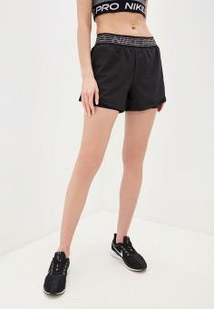 Шорты спортивные, Nike, цвет: черный. Артикул: NI464EWHTQF4. Спорт