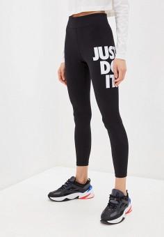 Леггинсы, Nike, цвет: черный. Артикул: NI464EWHTSS5. Одежда / Брюки / Леггинсы