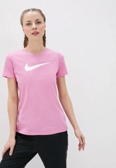 Футболка спортивная, Nike, цвет: розовый. Артикул: NI464EWHUEH4. Спорт