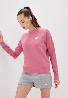 Свитшот, Nike, цвет: розовый. Артикул: NI464EWJOJA6. Одежда / Толстовки и свитшоты