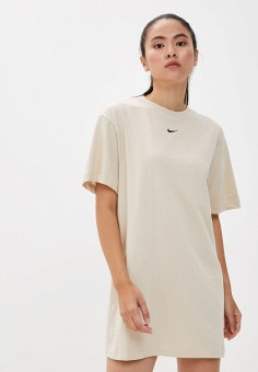 Платье, Nike, цвет: бежевый. Артикул: NI464EWJOJE0. Одежда / Платья и сарафаны