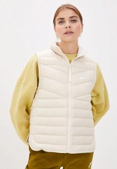 Жилет утепленный, Nike, цвет: бежевый. Артикул: NI464EWJOKJ9. Одежда / Верхняя одежда / Жилеты