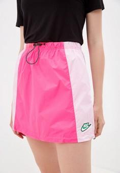 Юбка, Nike, цвет: розовый. Артикул: NI464EWJOKZ7. Одежда / Юбки