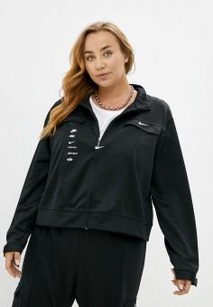 Олимпийка, Nike, цвет: черный. Артикул: NI464EWJOLZ7. Одежда / Одежда больших размеров