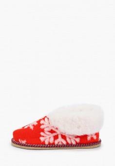 Тапочки, Nobbaro, цвет: красный. Артикул: NO021AWGAWF3. Обувь / Домашняя обувь