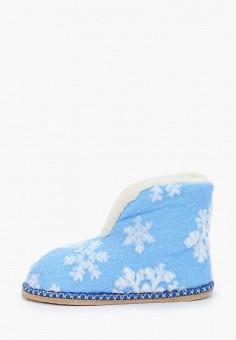 Тапочки, Nobbaro, цвет: голубой. Артикул: NO021AWGAWF4. Обувь / Домашняя обувь