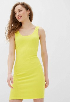 Платье, Noisy May, цвет: желтый. Артикул: NO963EWHJAY4. Одежда / Платья и сарафаны