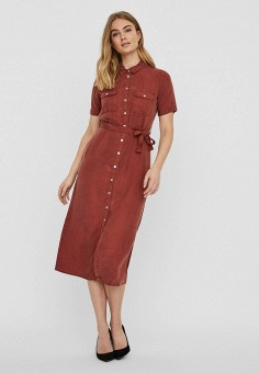 Платье, Noisy May, цвет: коричневый. Артикул: NO963EWHJBS3. Одежда / Платья и сарафаны