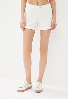 Шорты джинсовые, Noisy May, цвет: белый. Артикул: NO963EWZJU48. Одежда / Шорты