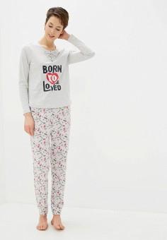 Пижама, NYMOS, цвет: серый. Артикул: NY002EWIEIE1. Одежда / Домашняя одежда / Пижамы