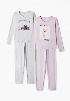 Комплект, NYMOS, цвет: серый, фиолетовый. Артикул: NY002EWIEIF0. Одежда / Домашняя одежда / Пижамы