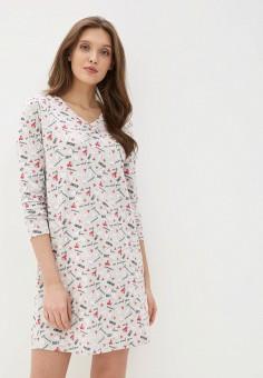 Платье домашнее, NYMOS, цвет: серый. Артикул: NY002EWIEII0. Одежда / Домашняя одежда