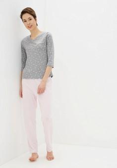 Пижама, NYMOS, цвет: розовый, серый. Артикул: NY002EWINAF1. Одежда / Домашняя одежда / Пижамы