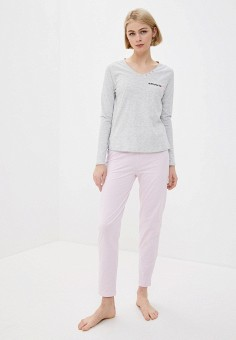 Пижама, NYMOS, цвет: серый, розовый. Артикул: NY002EWINAF8. Одежда / Домашняя одежда / Пижамы