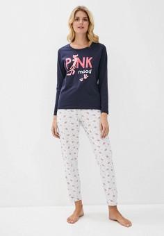 Пижама, NYMOS, цвет: серый, синий. Артикул: NY002EWINAG1. Одежда / Домашняя одежда / Пижамы