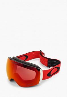 Маска горнолыжная, Oakley, цвет: красный. Артикул: OA001DUIBHP3. Спорт