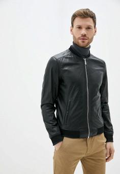 Куртка кожаная, Oakwood, цвет: черный. Артикул: OA002EMHOFQ2. Одежда / Верхняя одежда / Кожаные куртки