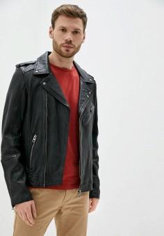 Куртка кожаная, Oakwood, цвет: черный. Артикул: OA002EMHOFQ4. Одежда / Верхняя одежда