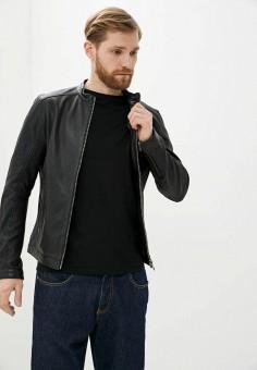 Куртка кожаная, Oakwood, цвет: черный. Артикул: OA002EMHOFQ8. Одежда / Верхняя одежда