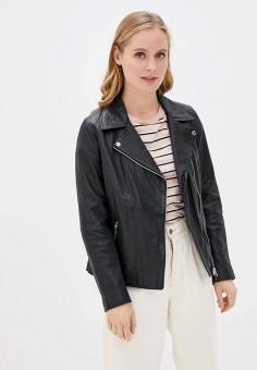 Куртка кожаная, Oakwood, цвет: черный. Артикул: OA002EWHOFO8. Одежда / Верхняя одежда / Кожаные куртки