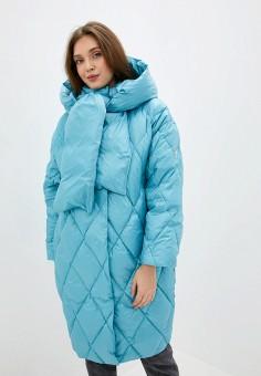 Пуховик, Odri Mio, цвет: голубой. Артикул: OD006EWGRQH0. Одежда / Верхняя одежда / Пуховики и зимние куртки / Пуховики