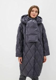 Пуховик, Odri Mio, цвет: серый. Артикул: OD006EWGRQH2. Одежда / Верхняя одежда / Пуховики и зимние куртки / Пуховики