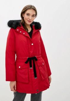 Парка, Odri Mio, цвет: красный. Артикул: OD006EWGRQI1. Одежда / Верхняя одежда / Парки