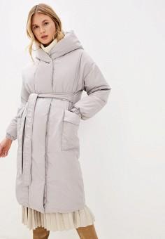 Пуховик, Odri Mio, цвет: серый. Артикул: OD006EWGRQI8. Одежда / Верхняя одежда / Пуховики и зимние куртки / Пуховики