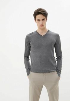 Пуловер, Old Seams, цвет: серый. Артикул: OL021EMHRVV2. Одежда / Джемперы, свитеры и кардиганы / Джемперы и пуловеры