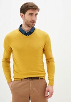 Пуловер, Old Seams, цвет: желтый. Артикул: OL021EMHRVW9. Одежда / Джемперы, свитеры и кардиганы / Джемперы и пуловеры