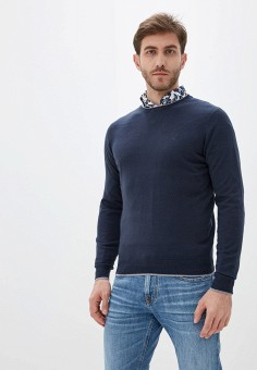 Джемпер, Old Seams, цвет: синий. Артикул: OL021EMHRVZ7. Одежда / Джемперы, свитеры и кардиганы / Джемперы и пуловеры