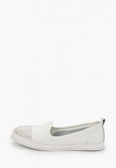 Лоферы, O-live Naturalle, цвет: белый. Артикул: OL023AWIFOU7. Обувь / Туфли