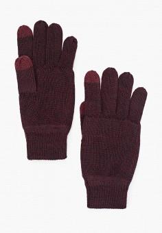 Перчатки, Only & Sons, цвет: бордовый. Артикул: ON013DMFLBF3. Аксессуары / Перчатки и варежки
