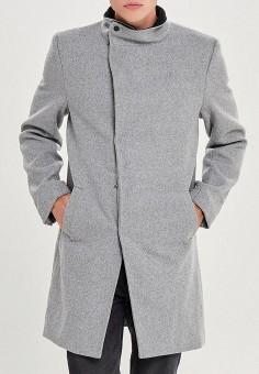 Пальто, Only & Sons, цвет: серый. Артикул: ON013EMBUUY5. Одежда / Верхняя одежда / Пальто
