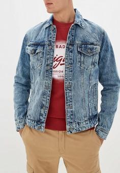 Куртка джинсовая, Only & Sons, цвет: синий. Артикул: ON013EMFLEG8. Одежда / Верхняя одежда / Джинсовые куртки