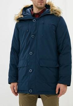 Пуховик, Only & Sons, цвет: синий. Артикул: ON013EMGLOP7. Одежда / Верхняя одежда / Пуховики и зимние куртки / Пуховики