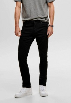 Джинсы, Only & Sons, цвет: черный. Артикул: ON013EMHJCC5. Одежда / Джинсы / Зауженные джинсы