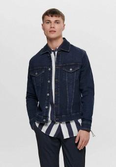 Куртка джинсовая, Only & Sons, цвет: синий. Артикул: ON013EMHJCD3. Одежда / Верхняя одежда / Джинсовые куртки