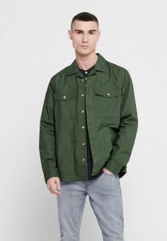 Рубашка, Only & Sons, цвет: хаки. Артикул: ON013EMHXDF4. Одежда / Рубашки