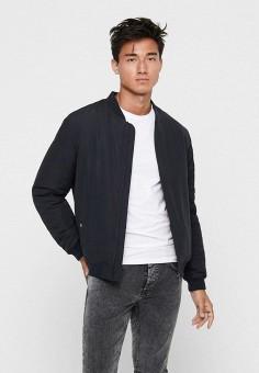 Куртка утепленная, Only & Sons, цвет: синий. Артикул: ON013EMJNPT5. Одежда / Верхняя одежда / Демисезонные куртки