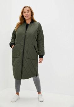 Куртка утепленная, Only Carmakoma, цвет: хаки. Артикул: ON019EWJPEB9. Одежда / Верхняя одежда / Демисезонные куртки