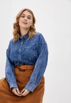 Рубашка джинсовая, Only Carmakoma, цвет: синий. Артикул: ON019EWJPEC6. Одежда / Блузы и рубашки / Рубашки