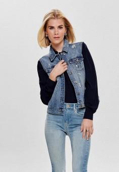 Жилет джинсовый, Only, цвет: синий. Артикул: ON380EWDTCU3. Одежда / Верхняя одежда / Жилеты