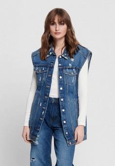 Жилет джинсовый, Only, цвет: синий. Артикул: ON380EWHSAS9. Одежда / Верхняя одежда / Жилеты